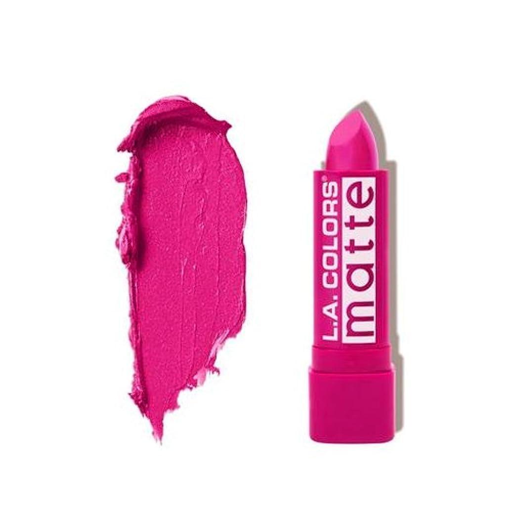 険しい殺人者心理的に(3 Pack) L.A. COLORS Matte Lip Color - Forever Fuchsia (並行輸入品)
