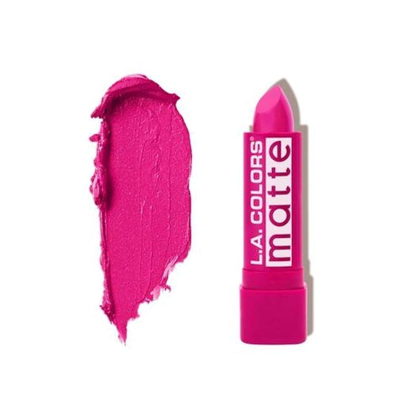 イサカメッセンジャーあさり(3 Pack) L.A. COLORS Matte Lip Color - Forever Fuchsia (並行輸入品)
