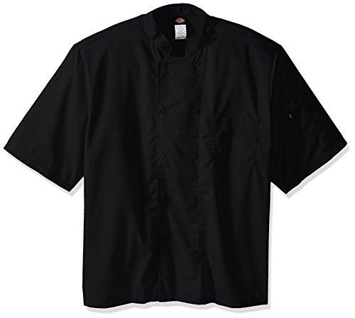 Dickies Chef Cool Breeze Short-Sleeve Coat, Black, XXX-Large