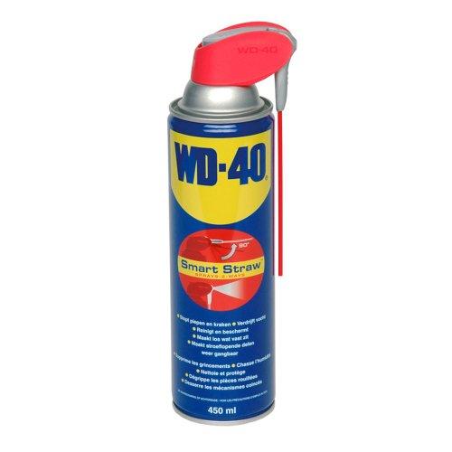 WD-40 Mehrzweckprodukt Smart Straw - Multi Spray Öl & Schmiermittel, Entfernt Fett, schützt vor Rost und stößt Wasser aus, 450 ml