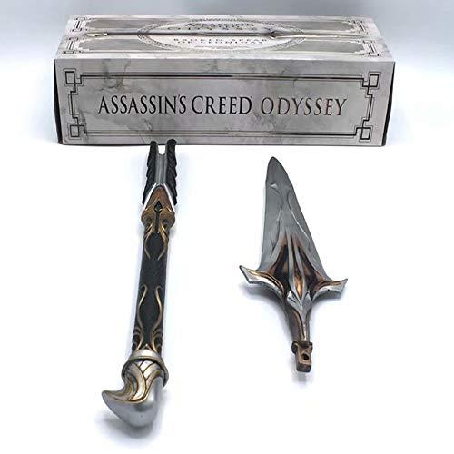 TONG Assassin S Creed Odyssey Spear of Onidas 9th Generation Xiujie Cos Hoja Oculta Espada De La Espada Figura