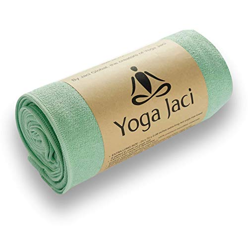 Hot Yoga Mat Towel - Non Slip and Skidless - Sweat Absorbent - Perfect for Bikram, Hot...