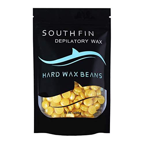 MMSD Hard Wax Beans Hair Removal Painless Stripless Wax Beans Depilatory Wax Hot Film Solid Wax Pellet for Body Bikini Arm Legs Sensitive Skin 100g (Gold)