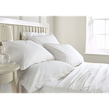 Bluemoon Homes luxurious 1000 Thread Count Italian FInish 100% Egyptian Cotton 4-Piece Bed Sheet Set, Fits Mattress Up To 21 inches Deep Pocket, Solid Pattern (Color - White, Size - King).