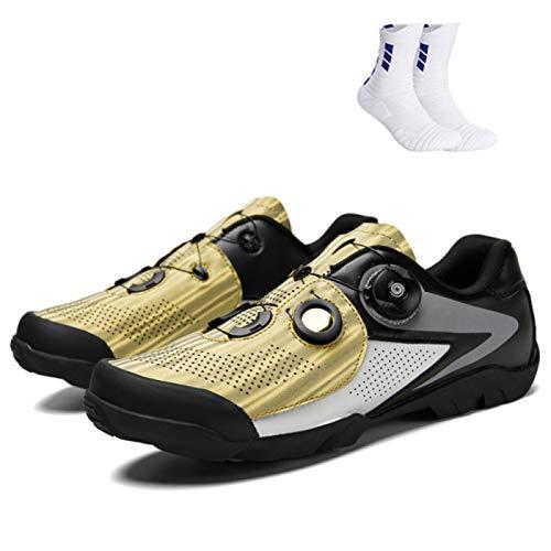 CHR Deportes Al Aire Libre para Hombres Calzado De Montaña Calzado De Bicicleta Sin Candado Calzado Deportivo De Bicicleta De Montaña Antideslizante Calzado De Bicicleta para Mujer,A-47