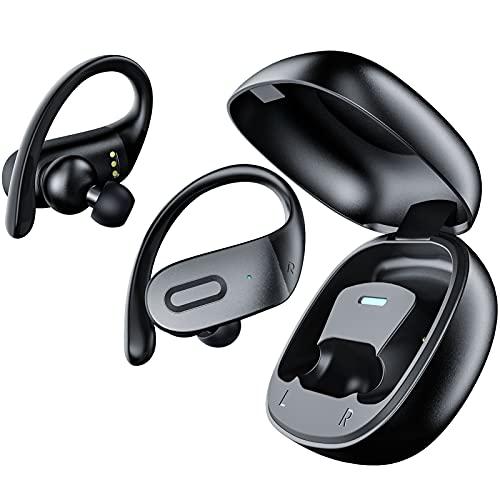QXQ Cuffie Bluetooth, Auricolari Bluetooth con AptX Suono Stereo, ENC 4 Microfoni Cancellazione del Rumore di Chiamata, 36 Ore di Autonomia con Custodia da Ricarica, Sport Cuffie per Viaggi, Lavoro