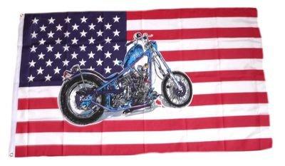 Fahne / Flagge USA - Motorrad NEU 90 x 150 cm Flaggen