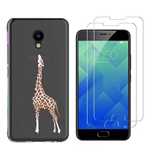 jrester Hülle Meizu M5 Note,Giraffe Weich Transparent Silikon TPU Anti-Kratzer Handyhülle Schutzhülle für Meizu M5 Note (5,5