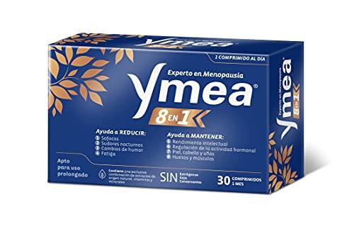 Ymea 8 en 1 ☑ Control de los 8 síntomas de la menopausia - Apto para uso prolongado - Sin estrógenos, soja o conservantes - 1 cápsula al día | Tratamiento de 1 mescápsulas al día - Tratamiento 1 mes