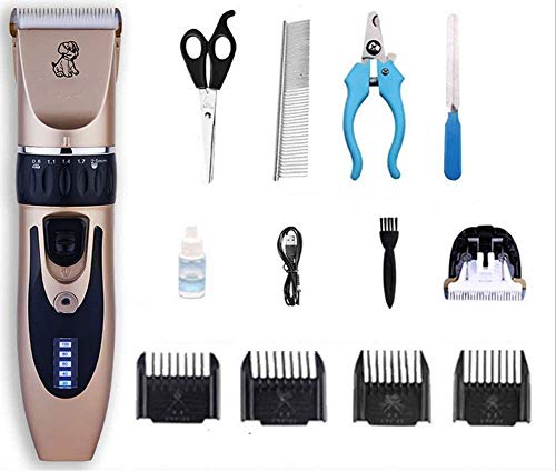 YYZHAO Rechargeable Dog Clippers With LED Display,Electric Pets Hair Trimmers Shaver Shears For Dogs And Cats 9.27 (Color : Package 3)