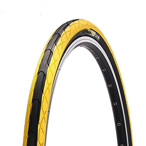 LXRZLS Bike Tires 26 x 1,5 Commuter/Urban/Cruiser/ibridi Pneumatici Bicicletta della Strada MTB Perle Filo Gomma Solida Bike Tires for la Bicicletta (Color : Yellow)