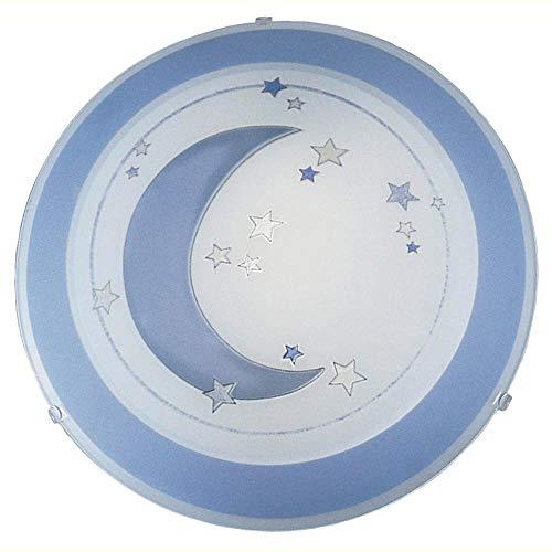 EGLO 83955 Plafonnier, Verre, E27, Bleu, Blanc