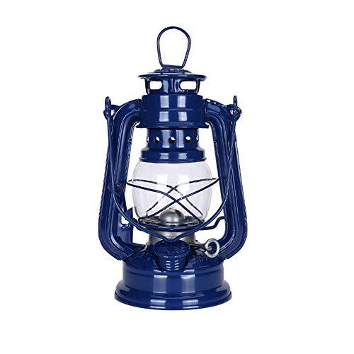 LED Linterna Camping Luz De Tormenta, Función Multi De La Lámpara De Keroseno De La Vendimia De Aceite Lámpara Encendida Linterna Portátil Linterna Camping Luz Colgante Decoración De Interior,Bronce