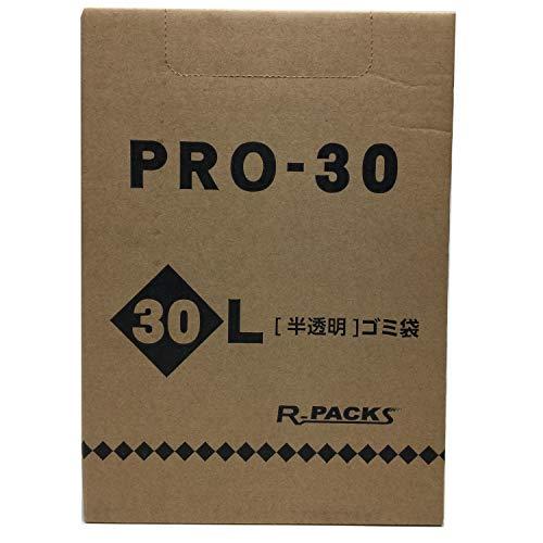 アルフォーインターナショナル ゴミ袋 半透明 30L 収納に便利な 箱入り ポリ袋 PR-332 100枚入1個セット