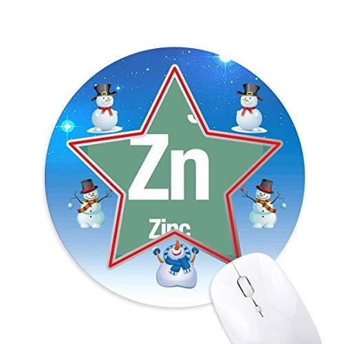 Zn Zink Chemical Element Science Schneemann Maus Pad Round Star Mat