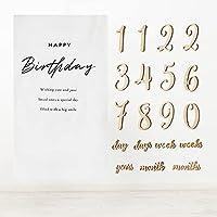 O-Life マンスリーカード 木製 レターバナー 19枚 バースデー タペストリー付き ナチュラル 月齢フォト ベビーフォト パーティー 1歳 100日 誕生日 飾り付け ウッドガーランド ベビー 記念日 撮影用カード