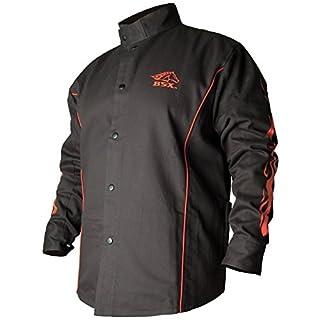 Black Stallion BSX FR Welding Jacket - Black w/Red Flames - Medium (B0035X8LVE)   Amazon price tracker / tracking, Amazon price history charts, Amazon price watches, Amazon price drop alerts