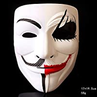 コスプレ ハロウィンアダルトマスク、パーティーゲームピエロストリートダンスメンズハロウィンマスク、マント×1 wangyq (Color : H)