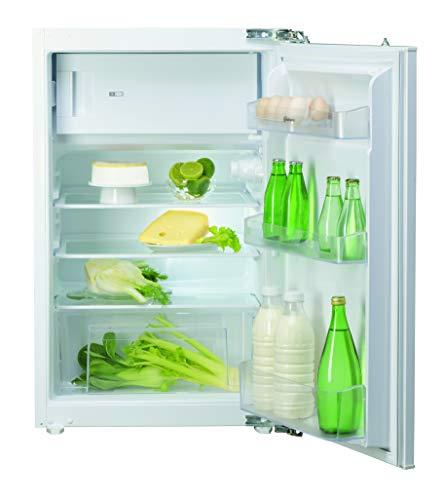 Bauknecht KSI 9GF2 Einbau-Kühlschrank mit Gefrierfach (Nische 88) / Gesamtnutzinhalt: 118 Liter/ Abtauautomatik im Kühlteil / LED-Licht / Einfache Festtürmontage SETMO-QUICK,Weiß