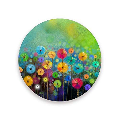 Nander Drink Coasters Absorbent Stone Bar Coaster Set of 1 Watercolor Painting Spring Flower Coasters for Drinks Coffee Mugs Cups Beer Wine Bottle Cocktail Desk