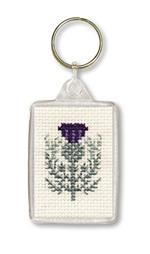 Textile Heritage Keyring Counted Cross Stitch Kit - Scottish Thistle