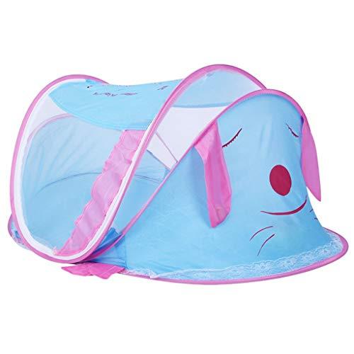 Willlly Lit De Bébé Portable Moustiquaire Chic Casual Tente De Voyage avec Fermeture À Glissière 2 Voies pour 0 2 Ans Bébé Enfants Bleu 112X62X60Cm (Color : Blau, Size : 112x62x60Cm)