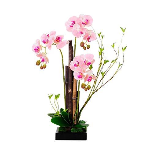 NYKK Künstliche Blume Chinese Simulation Schmetterling Orchidee, kreativer Lila Bambus gefälschter Blumenschmuck, künstliche Blumen mit Vase Gefälschte Blume Ewige Blume