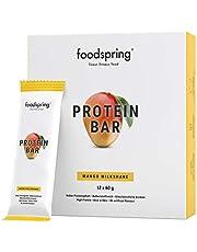 foodspring Protein Bar, 12-Pakket eiwitreep zonder toegevoegde suiker, volgens gecertificeerde productie in Duitsland