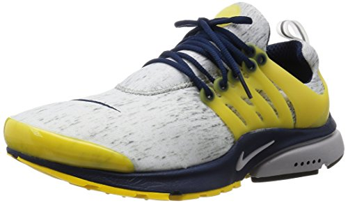 Nike Air Presto, Zapatillas de Running Hombre, Blanco/Amarillo/Negro (Zn Gry/Zn Gry-Mid Nvy-Vrsty MZ-), 3XL