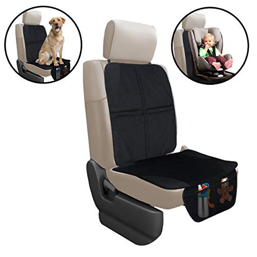 Car Seat Protector By Lebogner - Luxury Mat Cover Protector To Keep Nice And Clean Under Your Baby's Infant Car Booster Seat, Protects Your Auto Leather And Upholstery Seats From Damage
