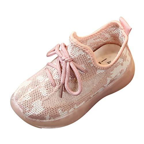 WEXCV Kinder Sneaker Unisex Kinder Sportschuhe Leichte Schuhe Jungen und Mädchen Turnschuhe Hallenschuhe rutschfeste Mesh Atmungsaktive Strickschuhe Baby Schuhe