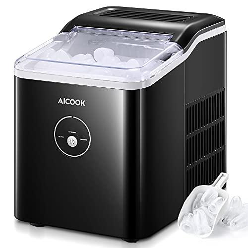 Aicook Beverage Refrigerator Cooler - 120 Can Mini Fridge Soda Beer or Wine -Shelves For Home Office or Bar
