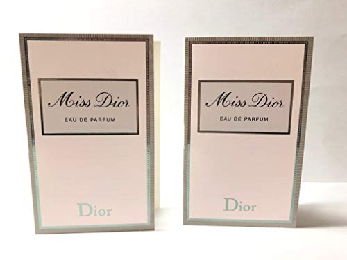 Miss Dior Sample-Vials For Women, 0.03 oz EDP -Lot Of 2- Name Brand Sample-Vials Included