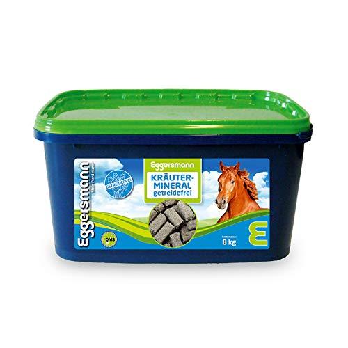 Eggersmann Kräutermineral Getreidefrei – Getreidefreies Mineralfutter für Pferde – Für Allergiker geeignet – 8 kg Eimer