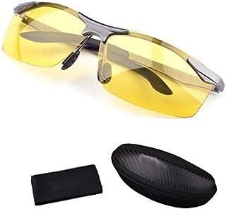 نظارات شمسية مستقطبة للقيادة الليلية والنهار المضادة للوهج للرجال مع قطعة قماش للتنظيف. بطاقة اختبار مستقطبة.