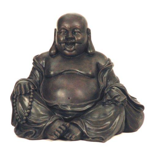 Geschenkestadl Riesen Buddha Figur sitzt und lacht 25 cm Asia Feng Shui Buddhismus