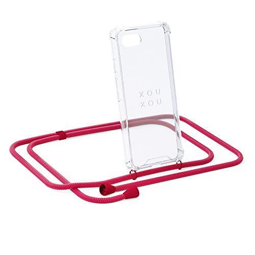xouxou Cordoncino Berlin per Cellulare iPhone 7 Plus / 8 Plus (Custodia per Cellulare A Tracolla) Riot Red