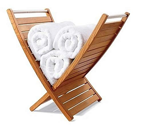 WholesaleTeak New Grade A Teak Wood Bath Shower Spa Room Towel Holder #WHAXTH