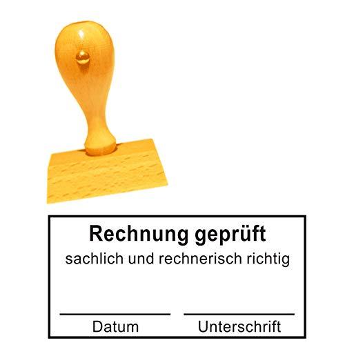 Stempel Bürostempel RECHNUNG GEPRÜFT - Buchungsstempel Kontierungsstempel