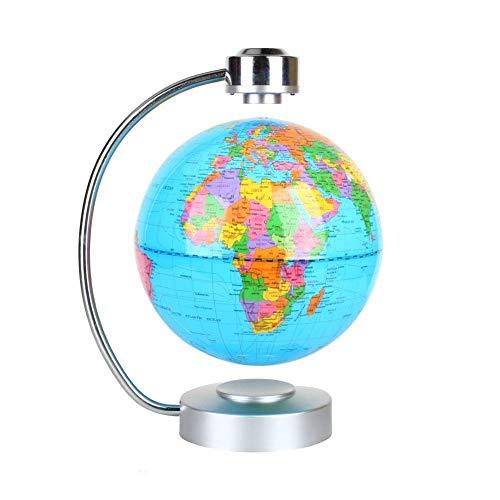 zjchao Globo terráqueo Flotante de levitación magnética el Mapa del Mundo para Oficina y casa Regalo Educativo para los niños (Azul)