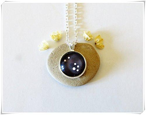 Elf House Taurus Zodiac ketting, sterrenbeeld sieraden, glazen sieraden, puur handgemaakt