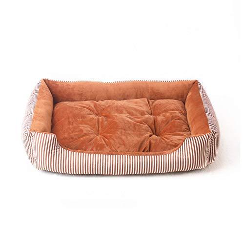 PPQQBB Cama para Perros pequeños y lecho para Mascotas de lecho para Gatos para Gatito Interior o Cachorro Super Soft Soft and Máquina Lavable para Mascotas Suministros par Orange- 70CM