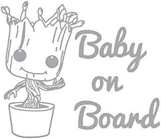 Baby Groot Baby On Board Vinyl Sticker Decals for Car Bumper Window MacBook pro Laptop iPad iPhone (6