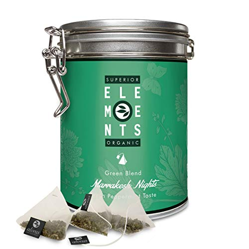 """""""Marrakesh Nights"""" im Beutel (15x3g) Grüner Tee Bio Dose mit Pfefferminze und Minze, Grüntee Teebeutel aromatisch, aber Ohne Aroma von alveus Premium Teas"""