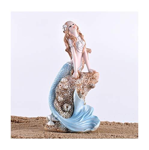 Nwn Mermaid Dekoration Schlafzimmer Kinderzimmer Aquarium-Mädchen-Geschenk (Color : A)