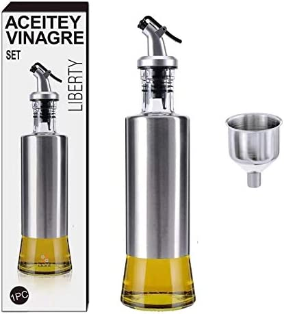Cooking Oil Dispenser Stainless OFFicial site Branded goods Glass Di Transparent Steel