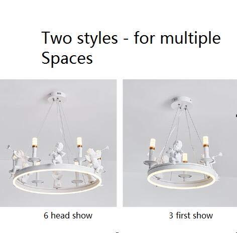 FGAITH LED minimalistische Nordic creatieve persoonlijkheid engel ring kroonluchter decoratieve lamp kroonluchter restaurant theelade kledingwinkel verlichting moderne slaapkamer