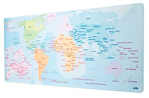 Oferta de ERIK - Mousepad XXL, Alfombrilla de ratón XXL Mapa del Mundo 2, 80x35 cm