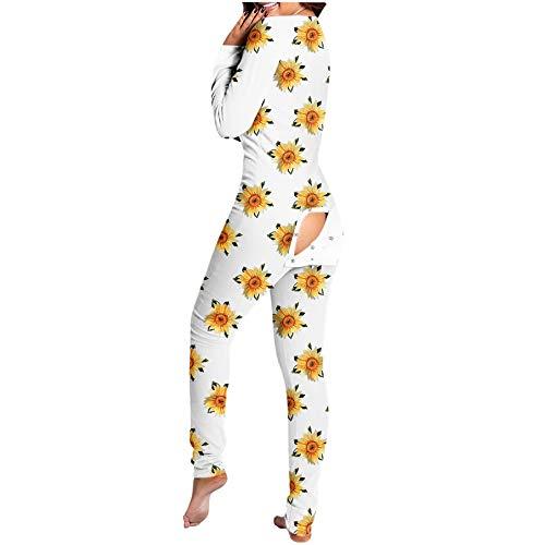 Bluelucon Pantalones de una Pieza para Adultos Disfraz de Cosplay Estampado Corto Leggings Conjunto de Ropa Interior Pijamas de Mujer Pijamas Suaves