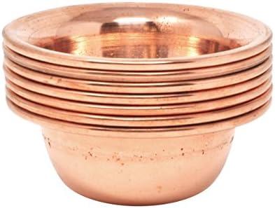 Mudra Crafts Set of 7 Copper Brass Yoga Meditation Altar Tibetan Buddhist Supplies Offering product image